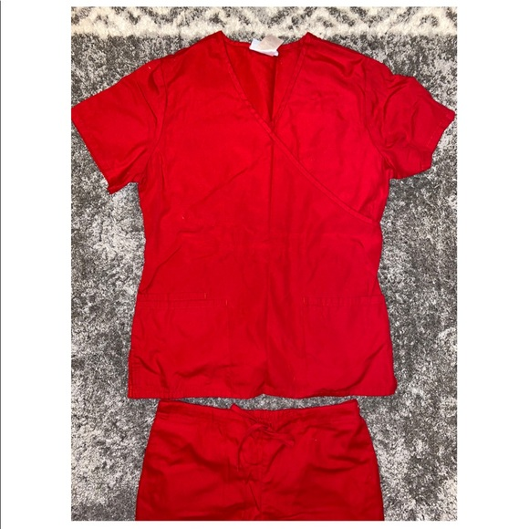 SB Scrubs Red Uniform Set